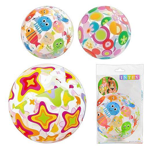 Надувний м'яч Intex різнокольоровий в асорт. (59040)купити