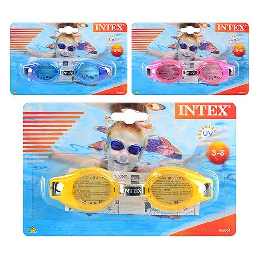 Окуляри для плавання Intex з регульованим ремінцем (55601)замовити