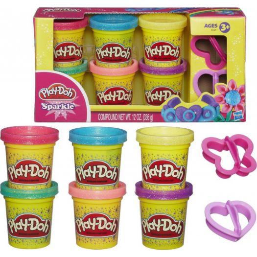 Набір пластиліну Play-Doh Блискуча колекція (A5417)в Україні