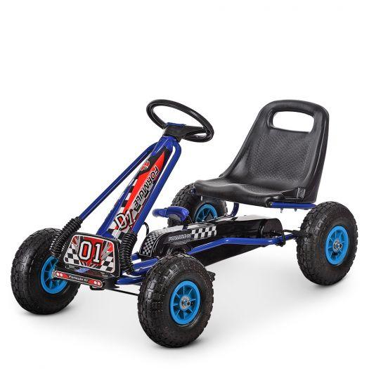 Карт педальний Bambi Racer, ручне гальмо, надувні колеса, ланцюгова передача (M 0645-4)замовити