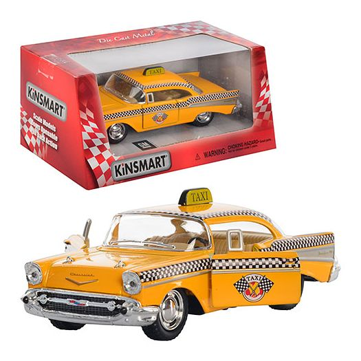 Машинка Kinsmart Chevrolet Bel Air 1957 Taxi інерційна металева (KT5360W)купити