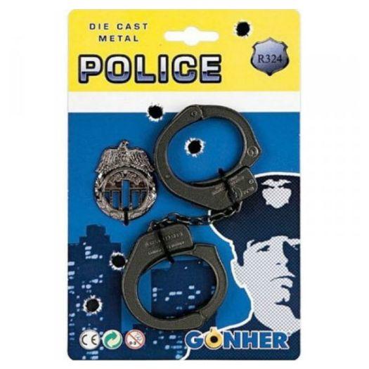 Набір поліцейського Gonher наручники і значок поліції (324/0)купити