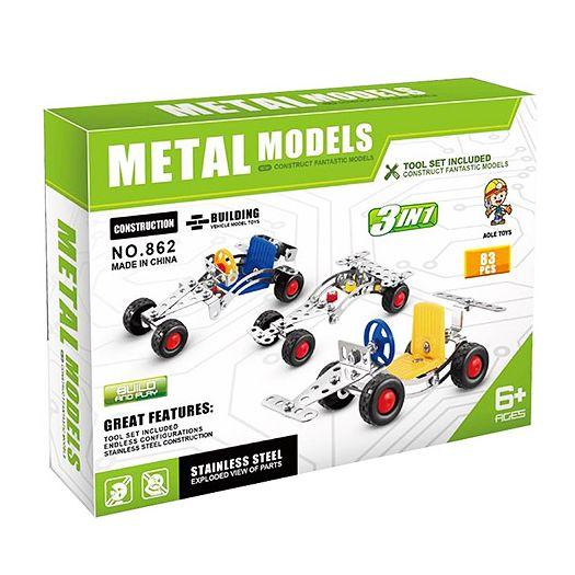 Конструктор металевий  Aole Toys 3в1 Машинки (862)замовити
