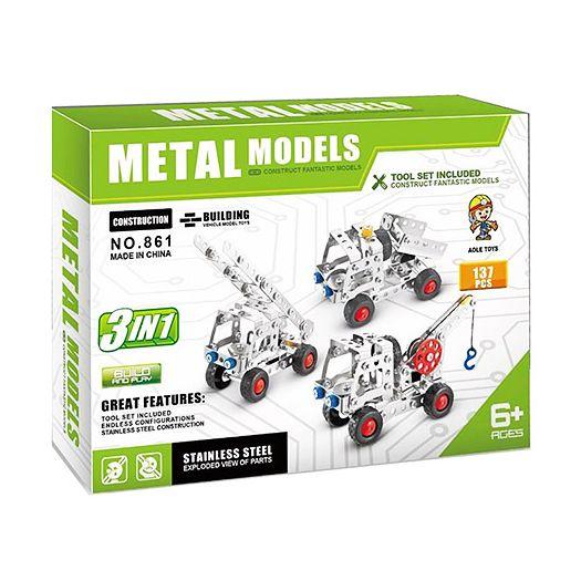 Конструктор металевий Aole Toys 3в1 Будтехніка (861)в Україні