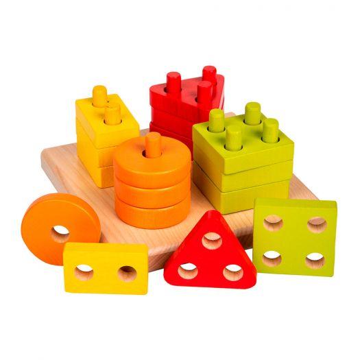 Іграшка-сортер Cubika Геометрична дерев'яна (13791)купити
