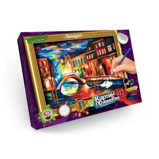 Картина за номерами Венеція Danko Toys з рамкою №9 (KN-01-09)купити