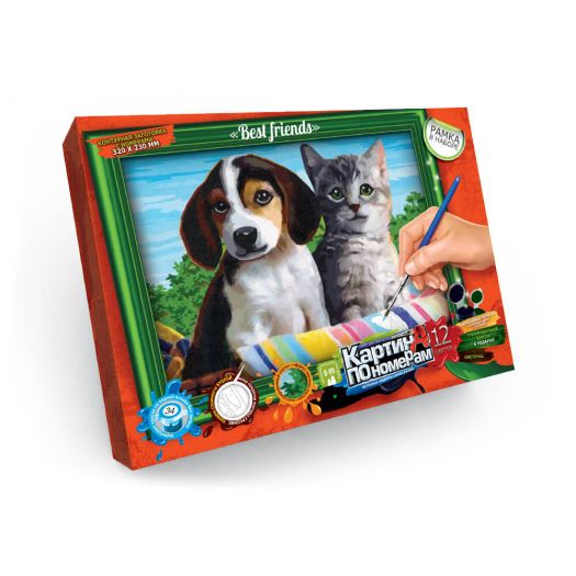 Картина за номерами Тварини Danko toys з рамкою №10 (KN-01-10)замовити