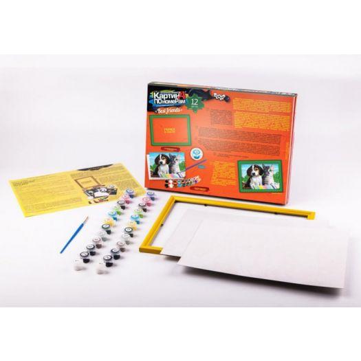 Картина за номерами Тварини Danko toys з рамкою №10 (KN-01-10)купити