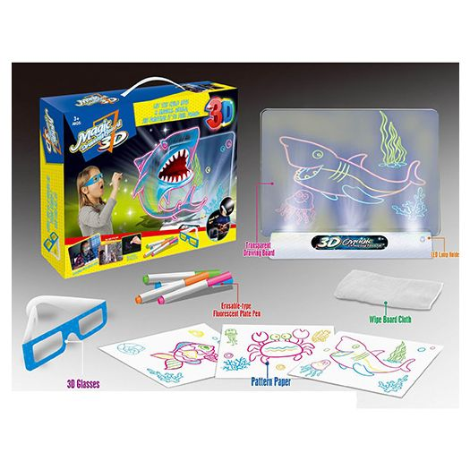 Дошка для малювання 3D Magic з підсвіткою (YM381)купити