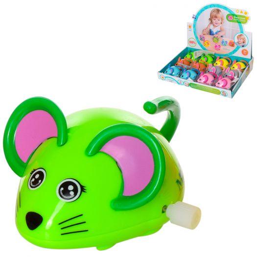 Заводна іграшка Wind-up toys мишка, 6 кольорів (655)купити