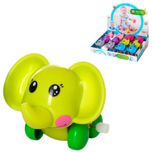 Заводна іграшка Wind-up toys слон, 6 кольорів (631)в Україні
