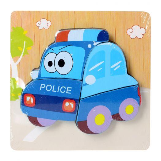 Дерев'яні пазли Wooden Puzzles Поліцейська машина (15X15-5)в Україні
