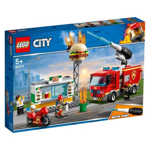 Конструктор LEGO City Пожежа в бургер-барі (60214)в Україні