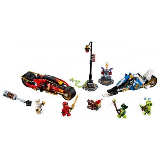 Конструктор LEGO Ninjago Мотоцикл із мечами Кая та снігомобіль Зейна (70667)в Україні