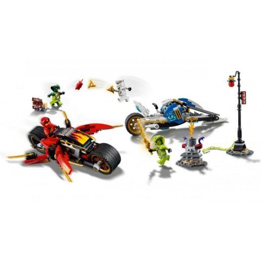 Конструктор LEGO Ninjago Мотоцикл із мечами Кая та снігомобіль Зейна (70667)купити