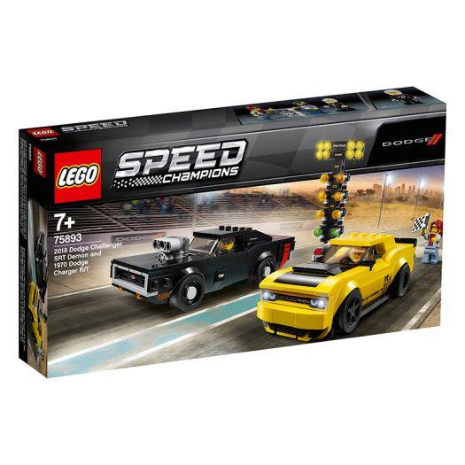 Конструктор LEGO Speed Champions Автомобілі 2018 Dodge Challenger SRT Demon та 1970 Dodge Charger R/T (75893)замовити