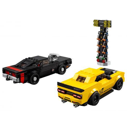 Конструктор LEGO Speed Champions Автомобілі 2018 Dodge Challenger SRT Demon та 1970 Dodge Charger R/T (75893)в Україні