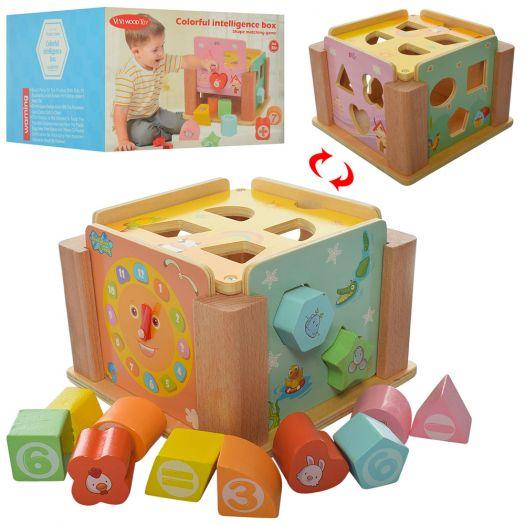 Дерев'яна іграшка-сортер ViVI WooD toy (WW-198)замовити