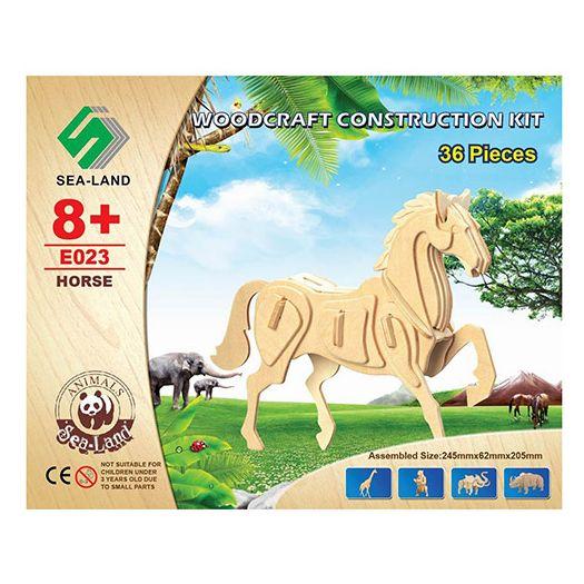 Конструктор Sea-Land Кінь дерев'яні пазли 3D (E023)замовити