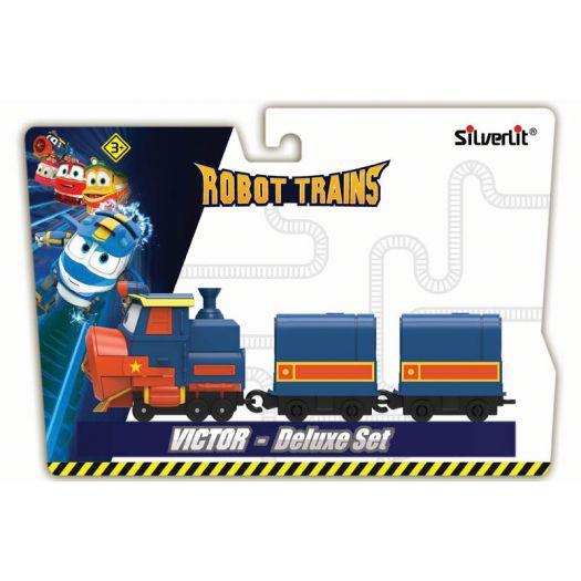 Паровозик Robot Trains Віктор, 2 вагона (80179)купити