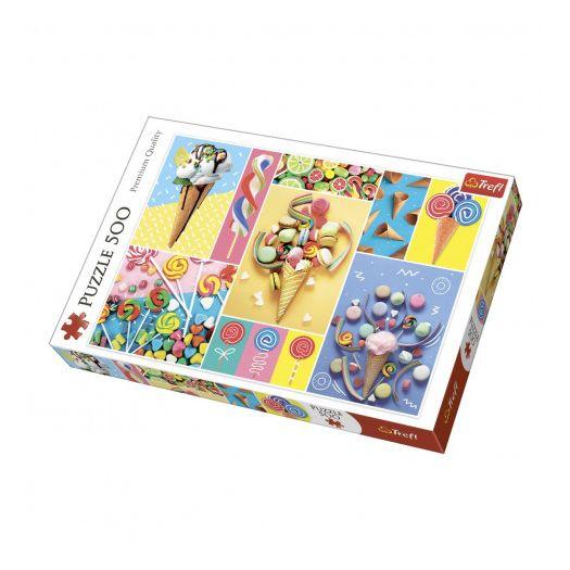 Пазли Trefl Улюблені солодощі, колаж, 500 дет. (37335)замовити