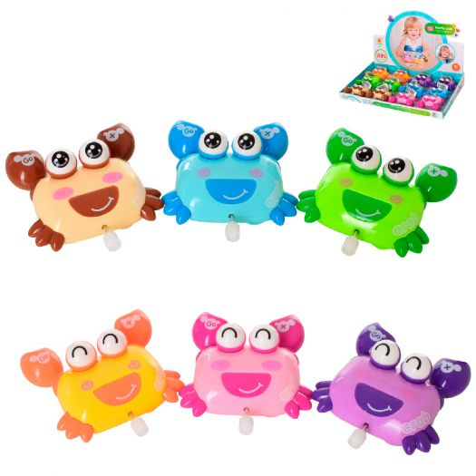 Заводна іграшка Wind-up toys краб, 6 кольорів (648)в Україні