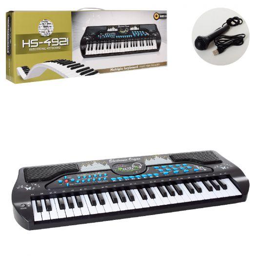 Синтезатор, 49 клавіш, мікрофон, USB, запис, демо (HS4921)в Україні