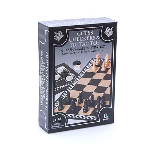 Настільна гра Pip Games 3в1: шахи, шашки, хрестики нулики (730)купити
