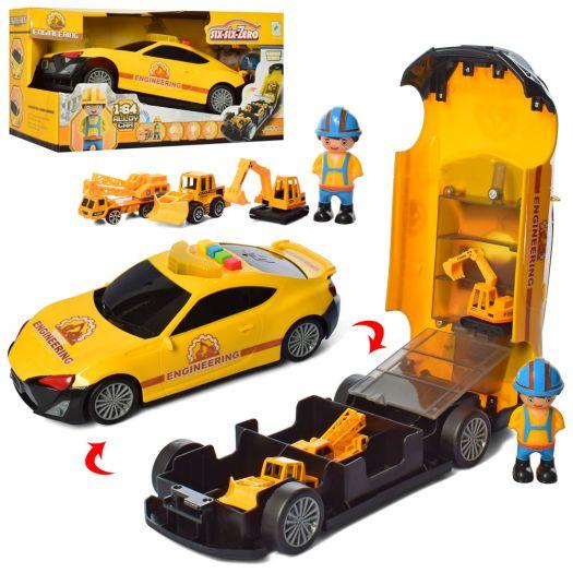 Набір з транспортом Six-six-Zero Машинка-гараж (660-A208)замовити