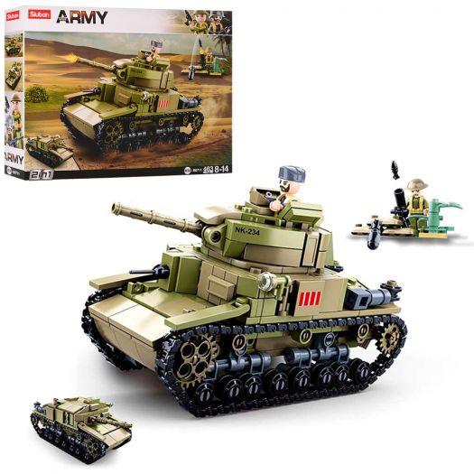 Конструктор SLUBAN Army Військовий італійський танк M14/41 (M38-B0711)в Україні