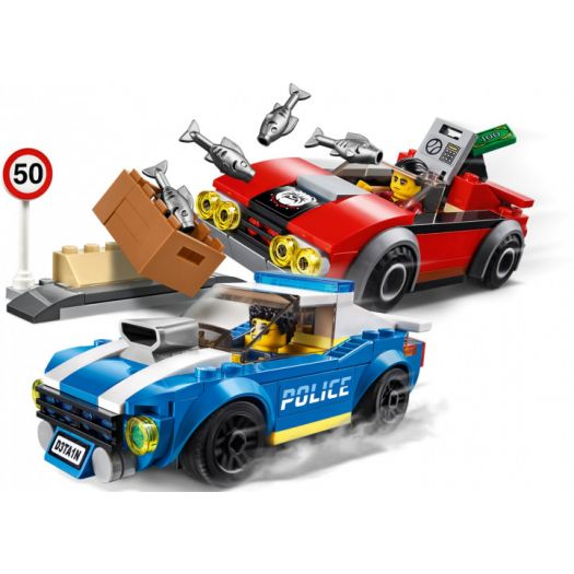 Конструктор LEGO City Поліцейський арешт на автостраді (60242) в Україні