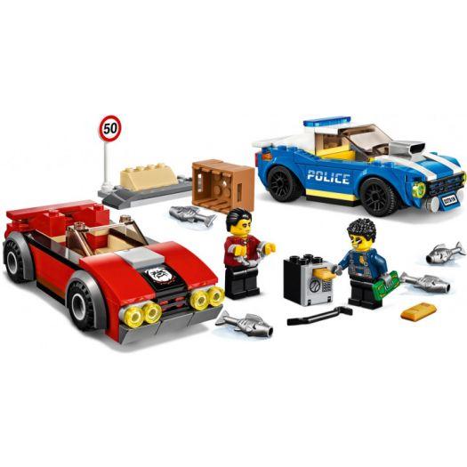 Конструктор LEGO City Поліцейський арешт на автостраді (60242) купити