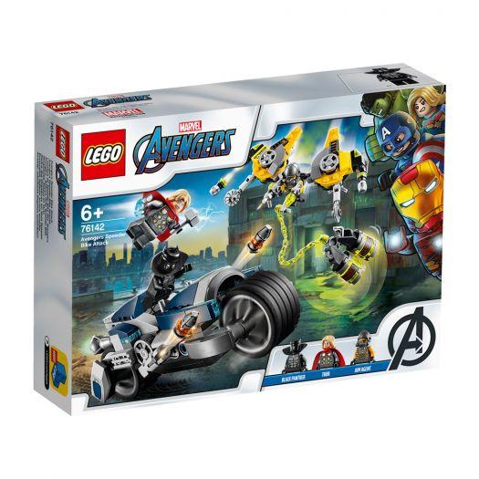 Конструктор LEGO Marvel Super Heroes Месники Атака на швидкісному мотоциклі (76142)замовити