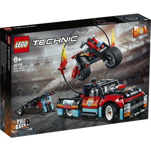 Конструктор LEGO Technic Шоу трюків на вантажівках і мотоциклах 2в1 (42106)замовити