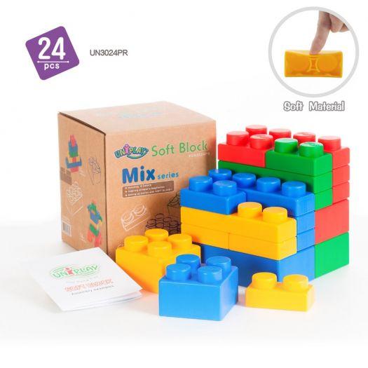 Конструктор дитячий Uniplay Mix з еластичними властивостями (UN3024PR)замовити