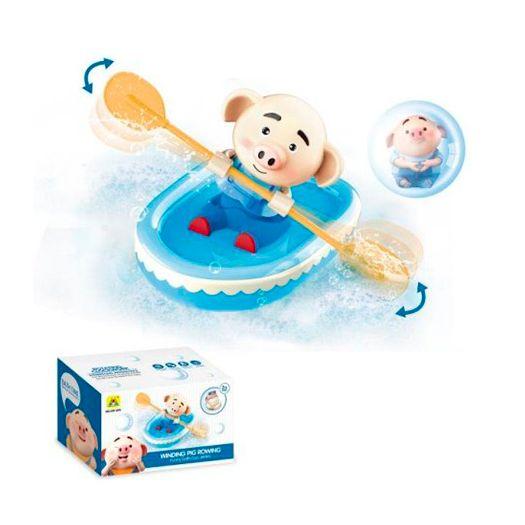 Іграшка для ванни Bath Toys Човен з поросятком (HG-595)в Україні