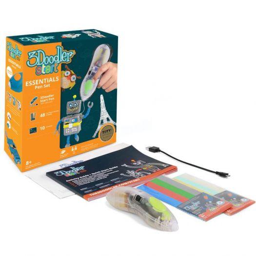 3D-ручка 3Doodler Start для дитячої творчості - КРЕАТИВ (48 стрижнів, прозора) (9SPSESSE2R-CL)в Україні