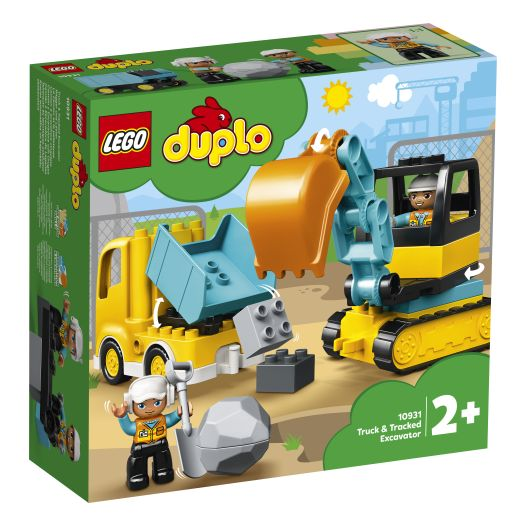 Конструктор LEGO Duplo Вантажівка та гусеничний екскаватор (10931)в Україні