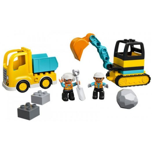 Конструктор LEGO Duplo Вантажівка та гусеничний екскаватор (10931)купити