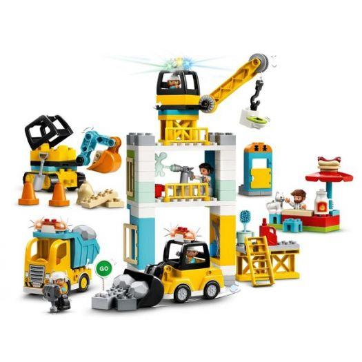 Конструктор LEGO Duplo Підіймальний кран і будівництво (10933)замовити