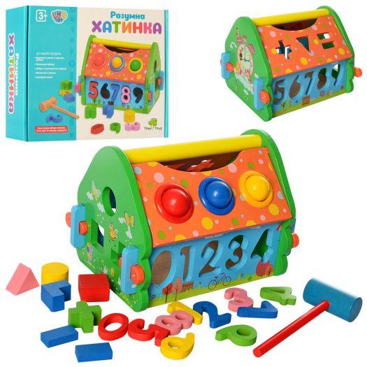 Дерев'яна іграшка-стукалка Tree Toys Будиночок-сортер (MD 2367)купити