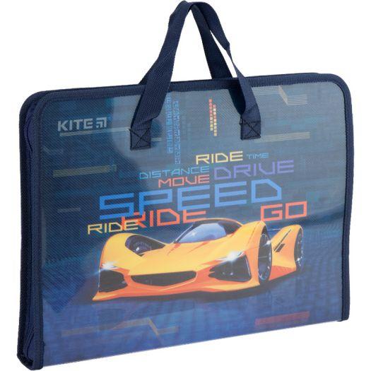 Папка-портфель KITE Fast Cars на блискавці (K20-202)замовити