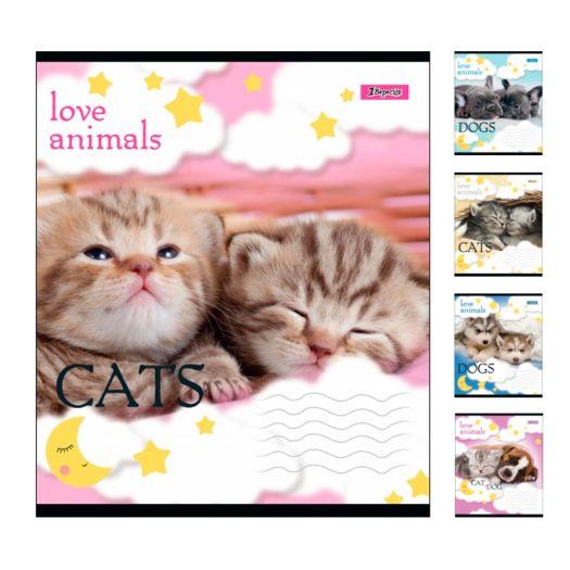 Зошит учнів, А5/12 лін. 1В LOVE ANIMALS (764471)в Україні