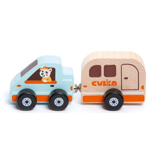 Дерев'яна іграшка Cubika Будинок на колесах (15368)купити