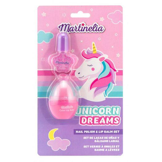 Набір косметики MARTINELIA Мрії єдинорога Лак для нігтів з бальзамом для губ (30538)в Україні