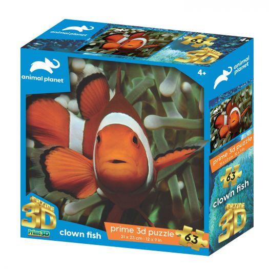 Пазли PRIME 3D Рибка клоун 63 дет. (13762)замовити
