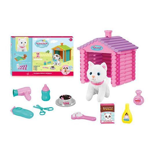 Ігровий набір Namten Кіт з будинком та аксесуарами (T886-1)купити