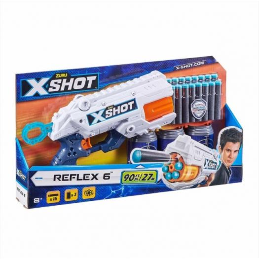 Швидкострільний бластер X-Shot EXCEL Reflex 6 (16 патронів) (36433Z)в Україні
