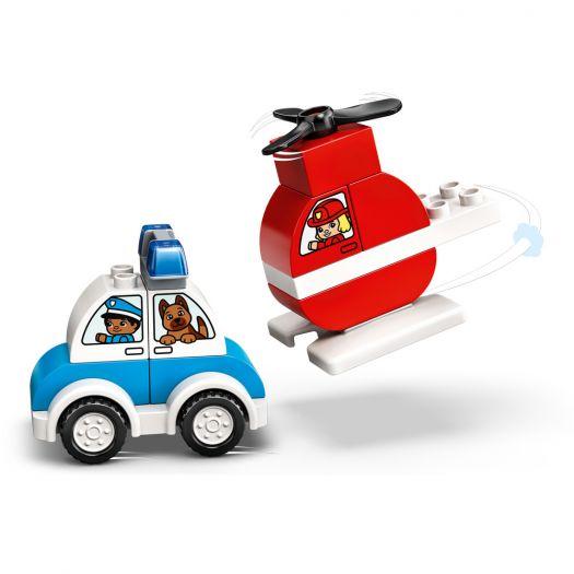 Конструктор LEGO Duplo Пожежний вертоліт і поліцейська машина (10957)купити