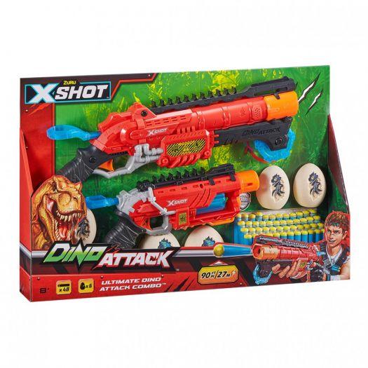 Набір скорострільних бластерів X-Shot DINO Combo Pack (2 середніх яйця, 4 маленьких яйця, 48 патронів) (4859)замовити